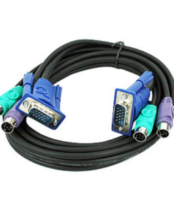 3-in-1 PS/2 & VGA M/M KVM Switch Computer Cable Set