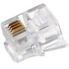 RJ11 Plug Round Solid Connector 50 Piece