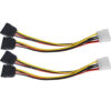 RiteCable (2 Pack) Molex to Dual SATA Power Splitter Cable Hard Drive HDD SSD