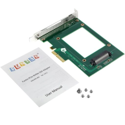 Funtin PCIe NVMe SSD Adapter with U.2 - SFF-8639 - Interface for 2.5 NVMe SSD 10