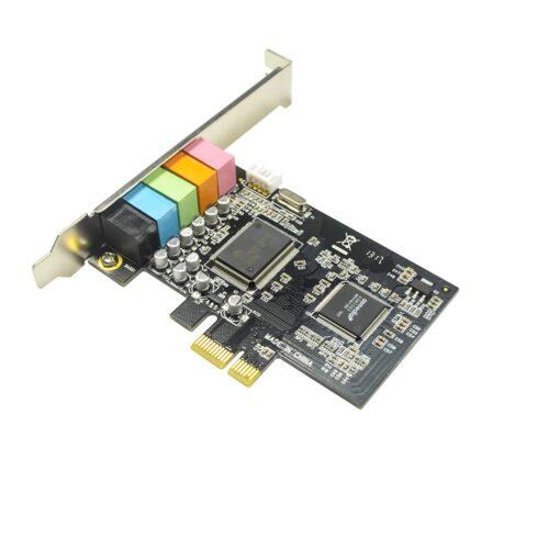 IOCRESR 5.1 Channel PCI-e x1 Sound Card Asmedia 1083 chipset 03
