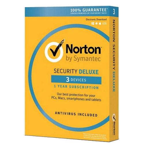 Norton Antivirus Deluxe 3 Devices 1 Year Subscription