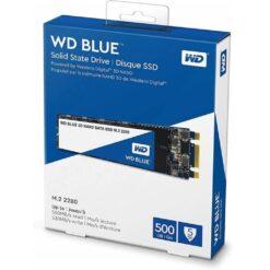 WD Blue 3D NAND 500GB Internal SSD - SATA III 6Gbs M.2 2280 Solid State Drive - WDS500G2B0B
