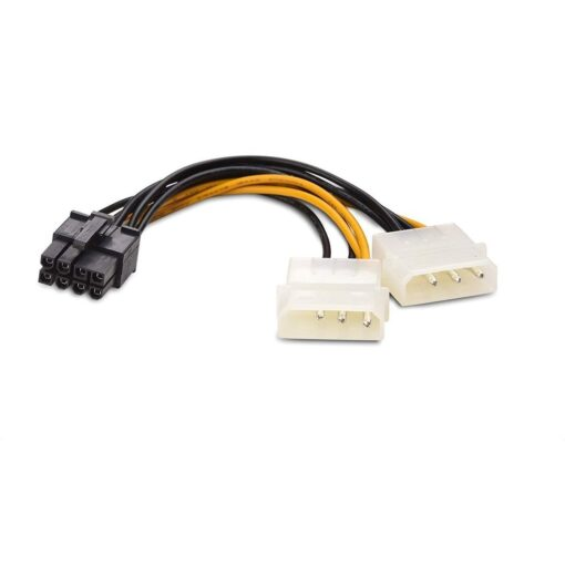 8-Pin PCIe to Molex 2X Power Cable 4 Inches