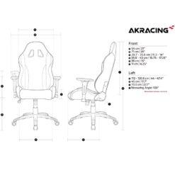 AKRacing California Gaming Chair Laguna - White 09