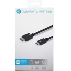 HP DisplayPort To HDMI Cable 2UX07AA#ABB