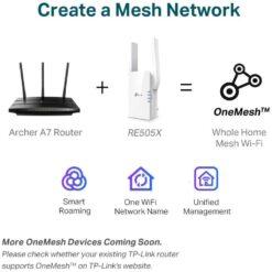 TP-Link Wi-Fi 6 Range Extender AX1500 Dual Band RE505X 05