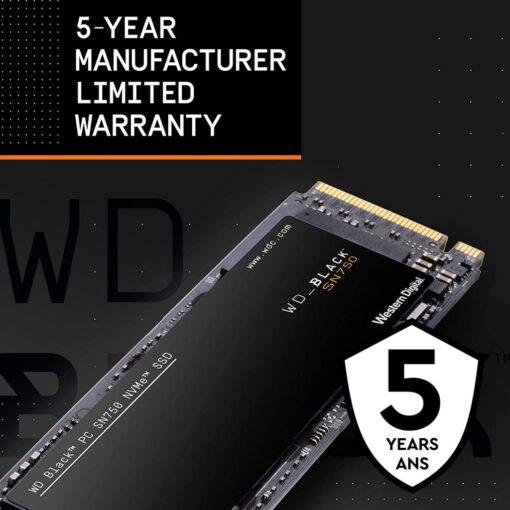 WD Black SN750 1TB NVMe Internal Gaming SSD 06