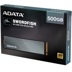 ADATA 500GB Swordfish M.2 2280 PCIe NVMe Gen3x4 SSD 3D NAND