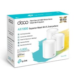 Tplink Deco X20 AX1800 Wifi6 Mesh System Wireless Network Gigabit Router, 3pack