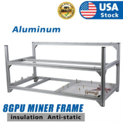 Aluminum Open Air Mining Rig Stackable Frame Holder For 8 GPU ETH Ethereum LOT