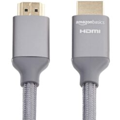 AmazonBasics 48Gbps High-Speed 8K HDMI Cable - Dark Gray - 3 Meter