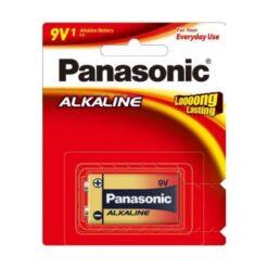 Panasonic 9V Alkaline Battery 1 Pack