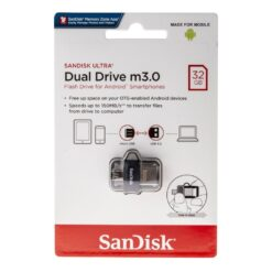 SanDisk 32GB Ultra Dual Drive m3.0 Flash Drive For Android Smartphones