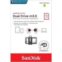 Sandisk 16GB Ultra Dual Drive m3.0 Flash Drive For Android Smartphones