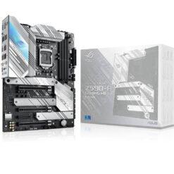 Asus ROG Strix Z590-A Gaming WiFi 6 LGA 1200 Intel 11th-10th Gen ATX White Scheme Gaming Motherboard