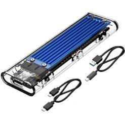 Orico Transparent NVMe M.2 SSD Enclosure USB Type-C - Blue