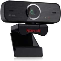 Redragon GW800 1080P PC Webcam with Built-in Dual Microphone 360-Degree Rotation