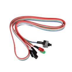 ATX PC Computer Motherboard Power Cable Switch OnOffReset SW With HDD Power LED Light
