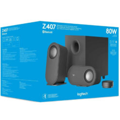 Logitech Z407 Bluetooth Computer Speakers with Subwoofer and Wireless Control