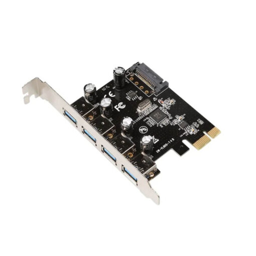 4 Port PCI Express PCIe SuperSpeed USB 3.0 Controller Card Adapter with UASP - SATA Power - USB 3 PCIe Card