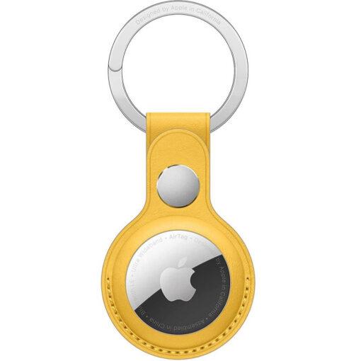 Apple AirTag Leather Key Ring - Meyer Lemon