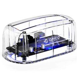 Orico Transparent Hard Drive Docking Station USB 3.0 to SATA External Hard Drive Enclosure