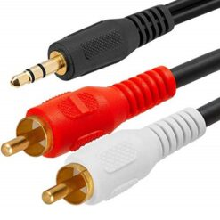 Audio Cable 3.5mm Stereo Mini Plug To 2x RCA Plugs