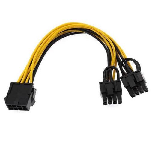 GPU VGA Power Extension 8 pin to 8 pin Dual Converter Adapter