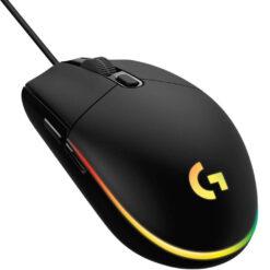 Logitech G203 LIGHTSYNC RGB Wired Gaming Mouse - Black